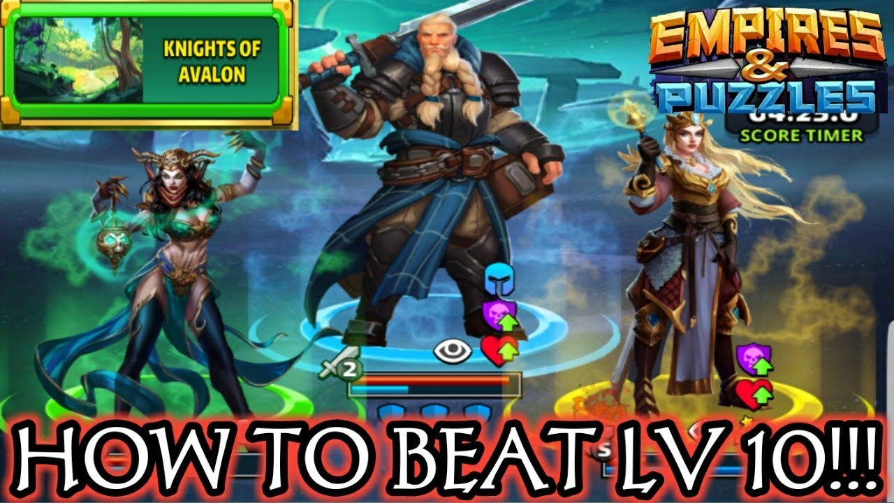 How To Beat Level 10 Knights Of Avalon!!! Empires And Puzzles intended for Empires And Puzzles Events 2020