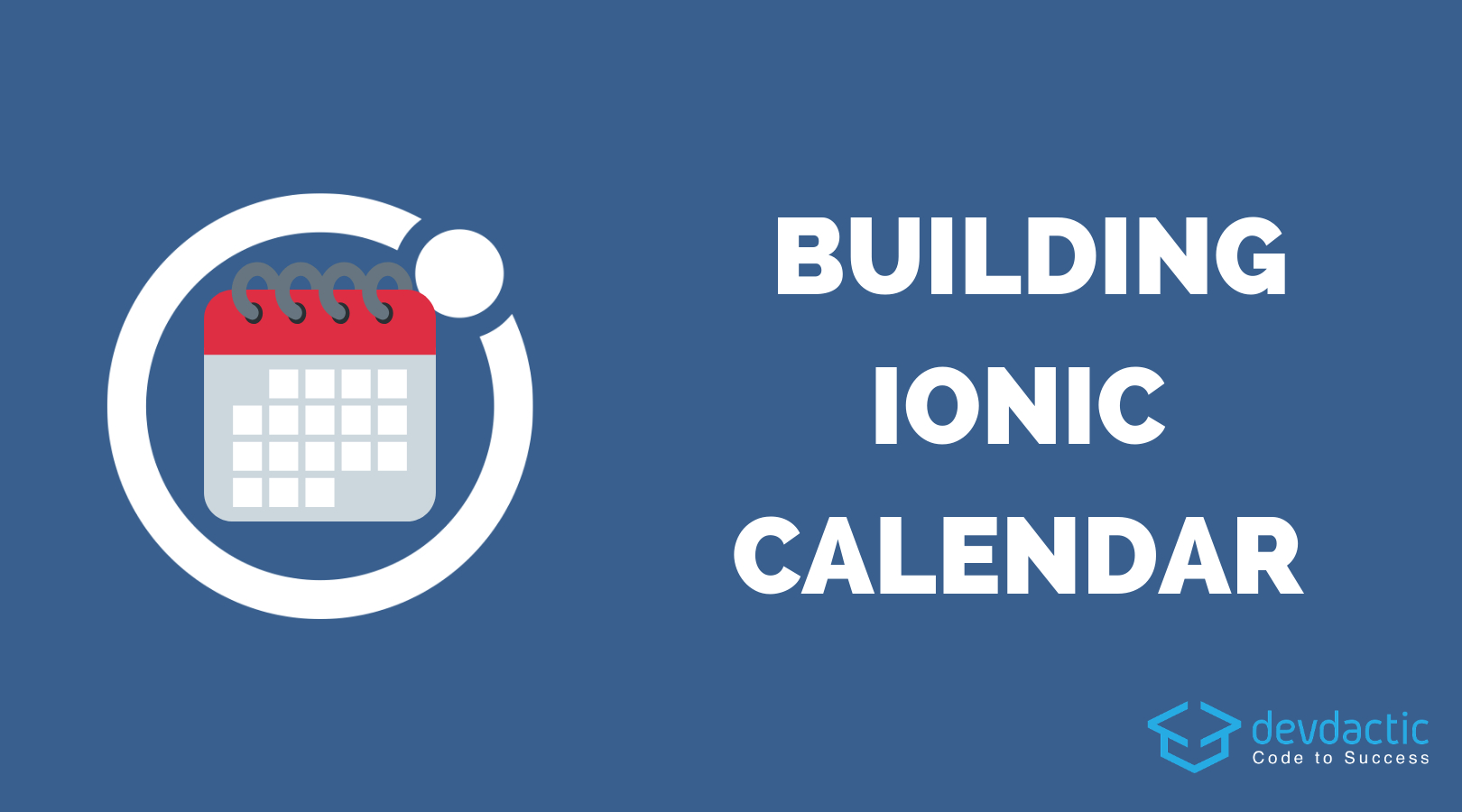 How To Build An Ionic 4 Calendar App  Devdactic for Calendar Date Icon Generator