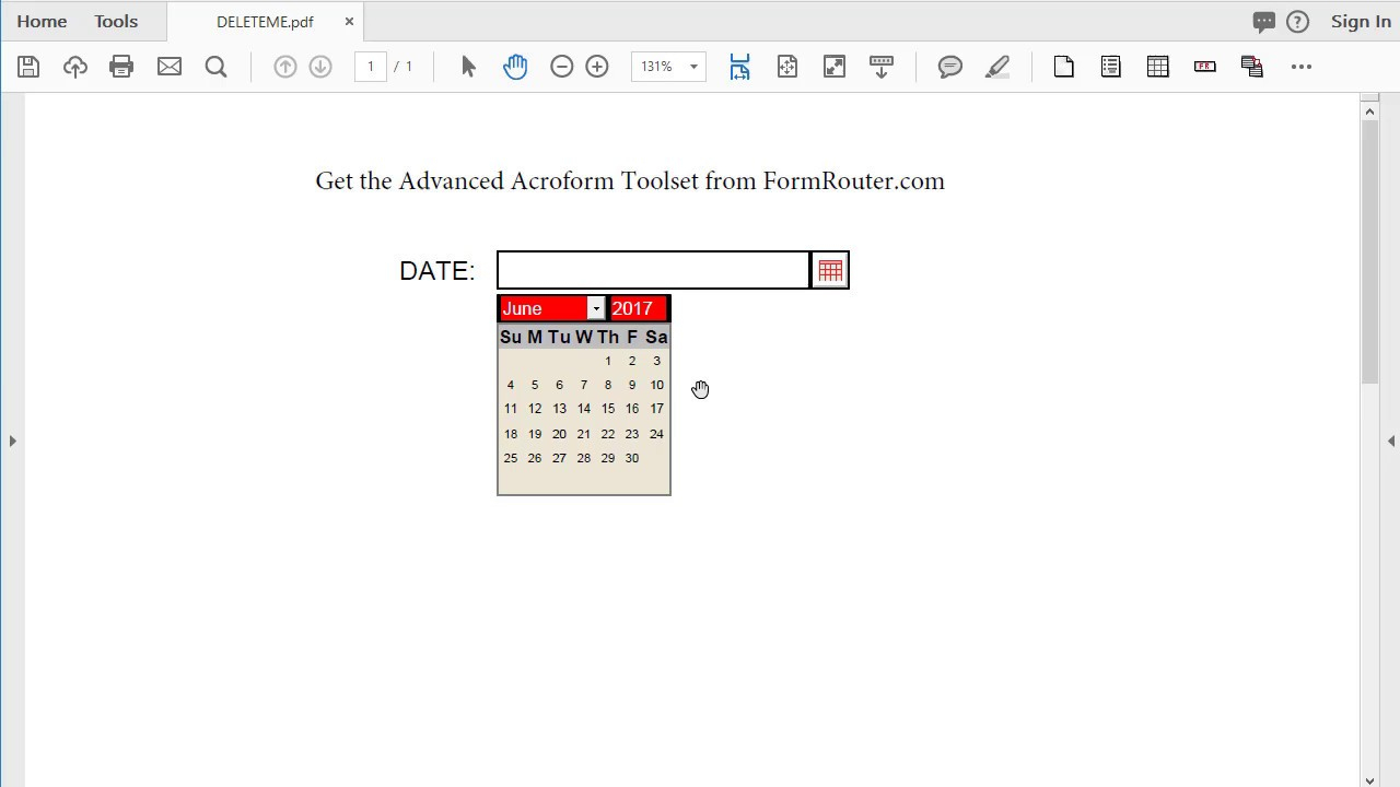 How To Change The Calendar Language On A Pdf Form In Acrobat within Pdf Form Calendar Date Picker