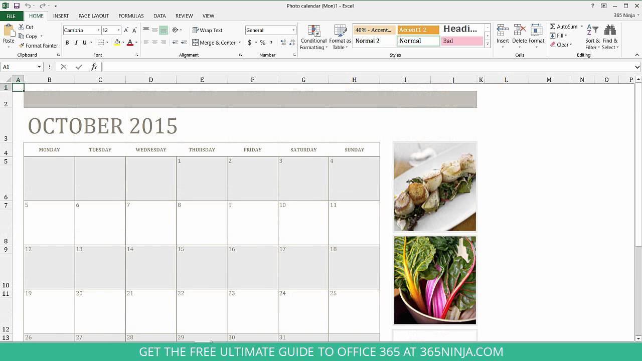 How To Create A Calendar In Excel with regard to Perpetual Calendar Excel