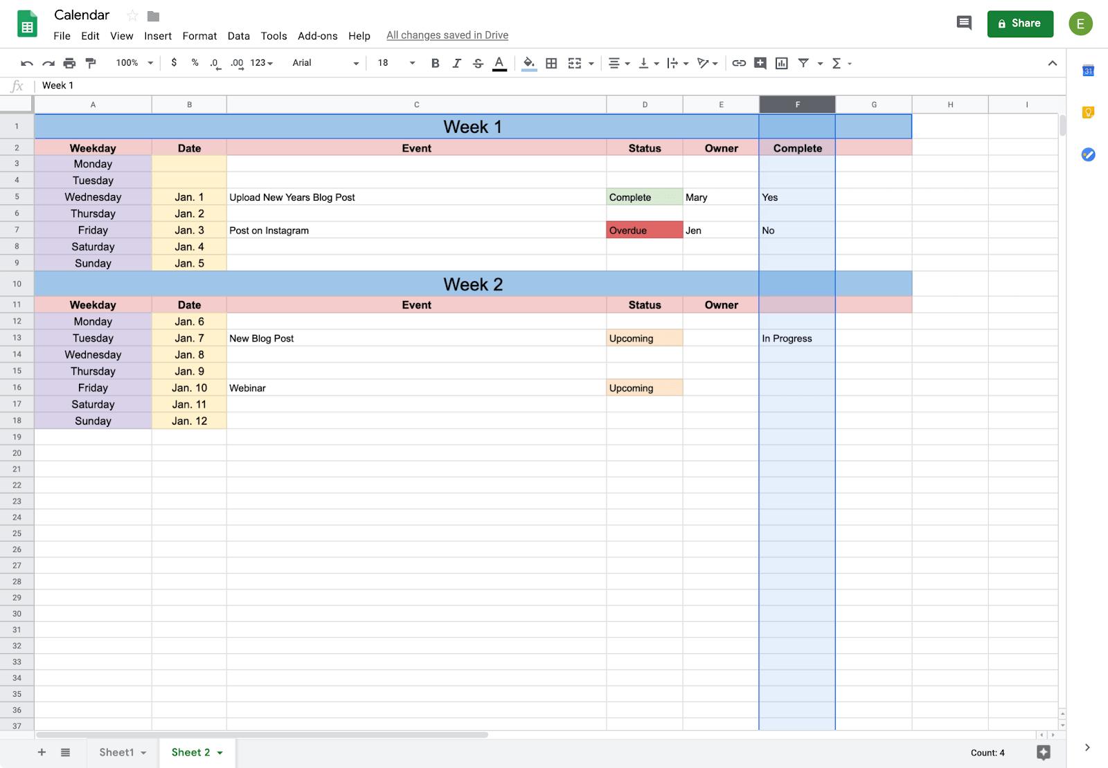 How To Create A Calendar In Google Docs | Copper with regard to Calendar Template Google Docs Spreadsheet