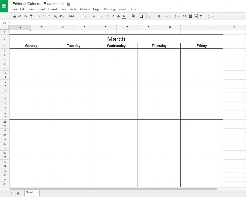 How To Create A Free Editorial Calendar Using Google Docs intended for Calendar Maker Google Docs
