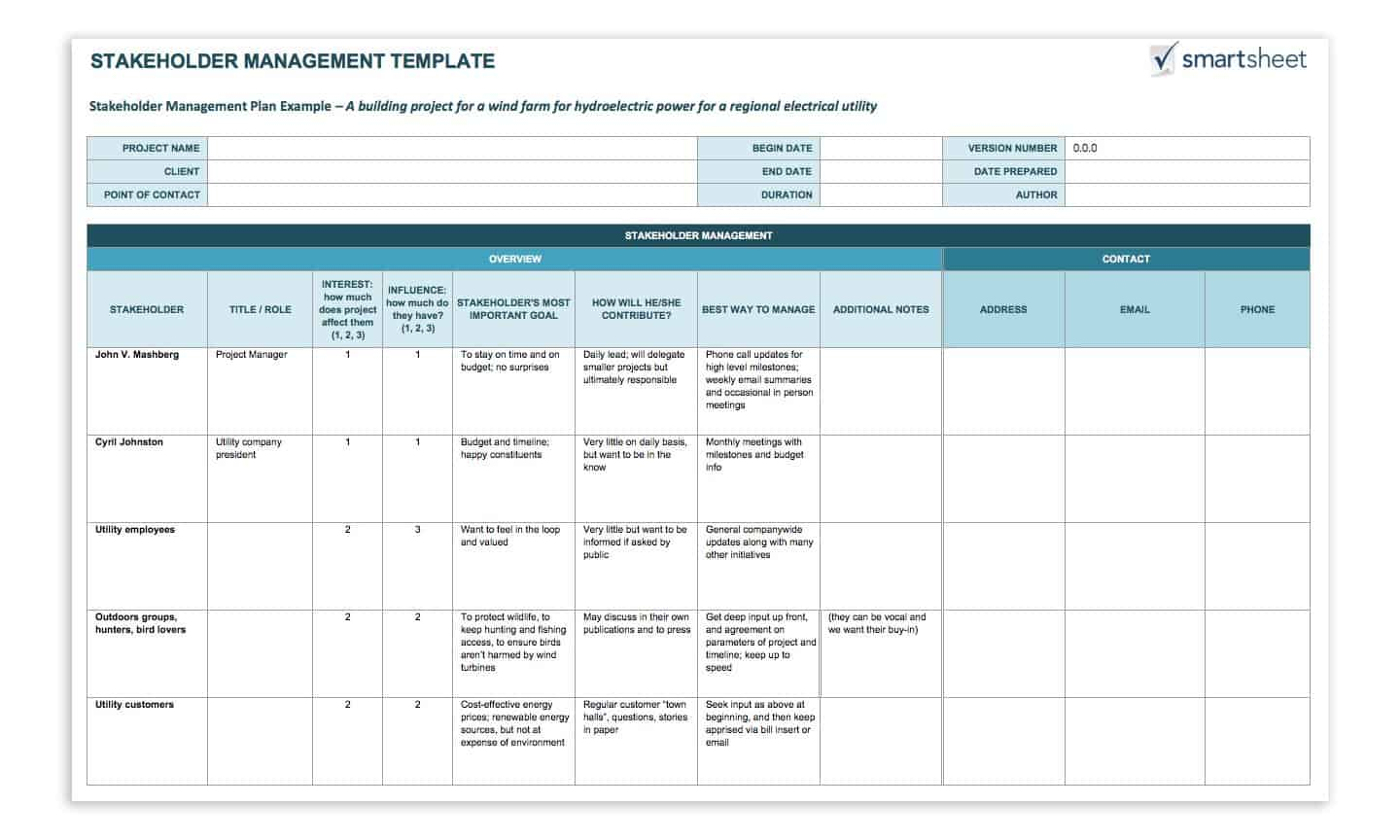 How To Create A Stakeholder Management Plan Smartsheet intended for Smartsheet Stakeholder Analysis