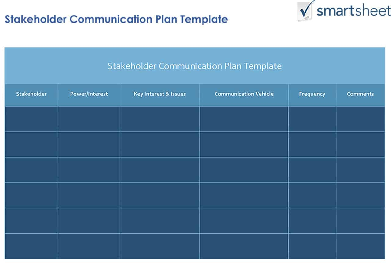How To Create A Stakeholder Management Plan Smartsheet with Smartsheet Stakeholder Analysis