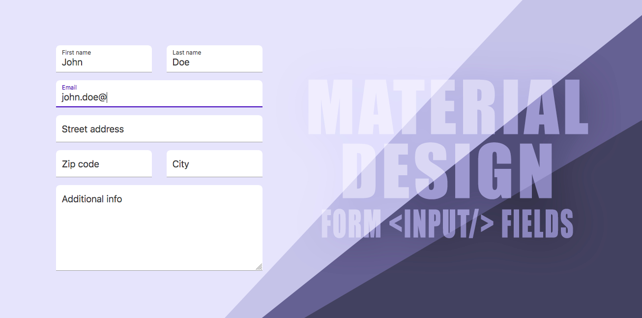 How To Create Material Design Like Form Text Fields With pertaining to Text Fields Material