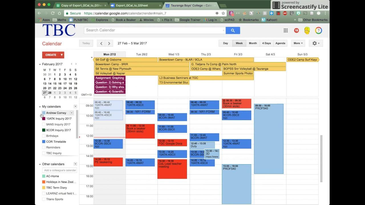 How To Export A Google Calendar To Google Sheets pertaining to Export Google Calendar Excel