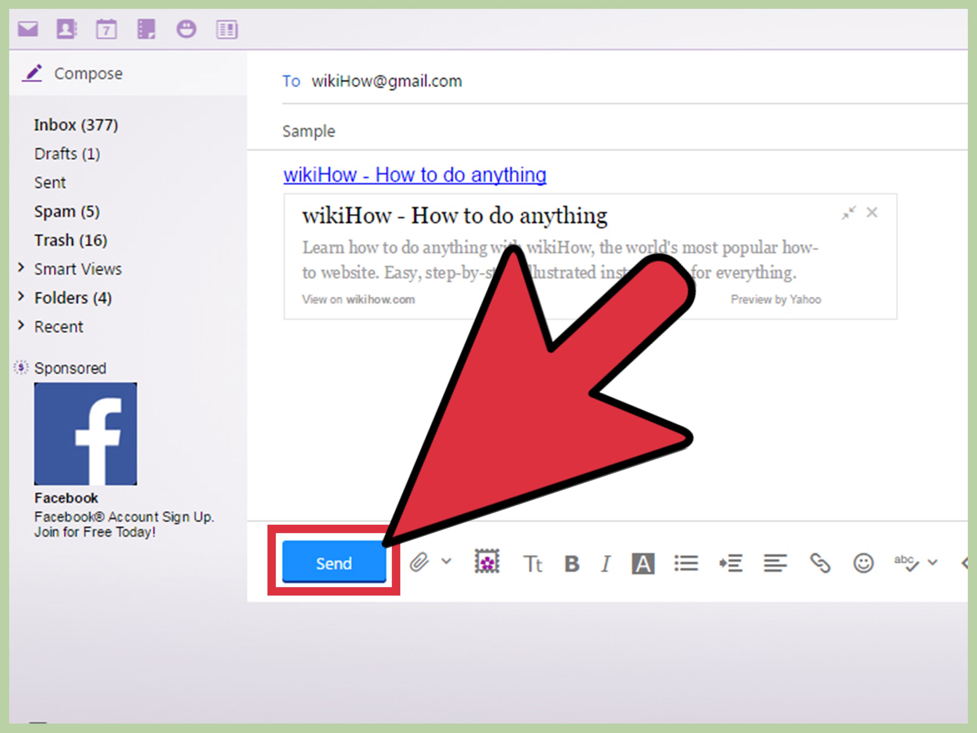 How To Hyperlink In Yahoo Mail: 9 Steps (With Pictures pertaining to How To Connect Yahoo To Facebook