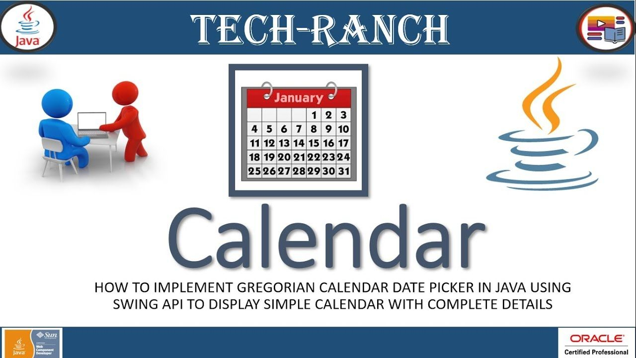 How To Implement Calendar And Date Picker Example Using throughout Java Swing Date Picker