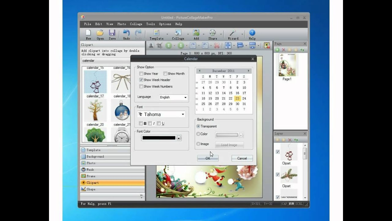 How To Make A Photo Calendar In Picture Collage Maker Pro inside Collage Calendar Maker