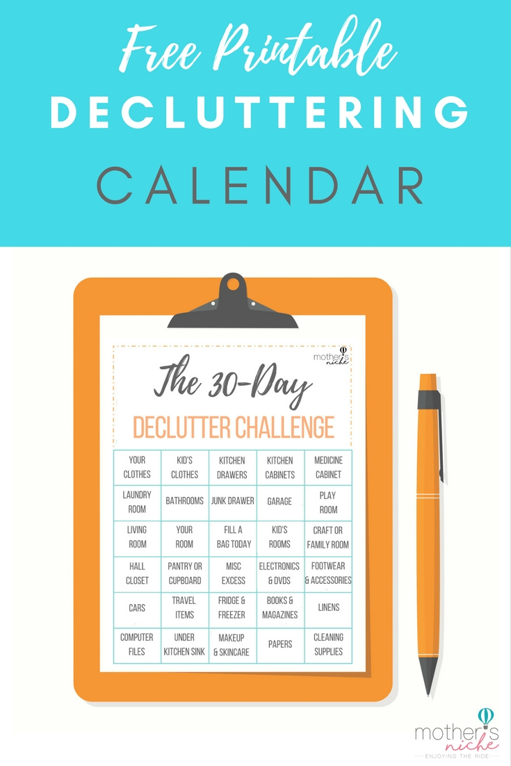 How To Organize Your Life With The 30 Day Declutter Challenge for 30 Day Declutter Calendar