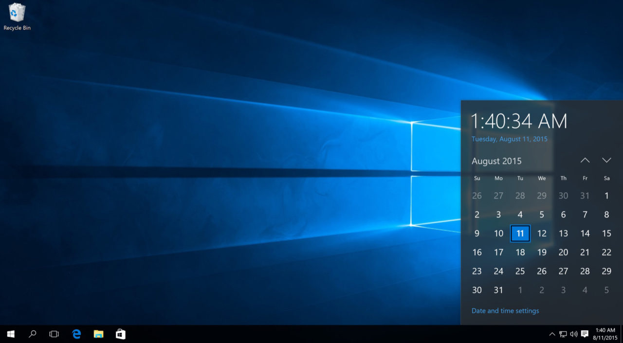 How To Remove The Clock From The Windows 10 Taskbar regarding Windows 10 Desktop Calendar