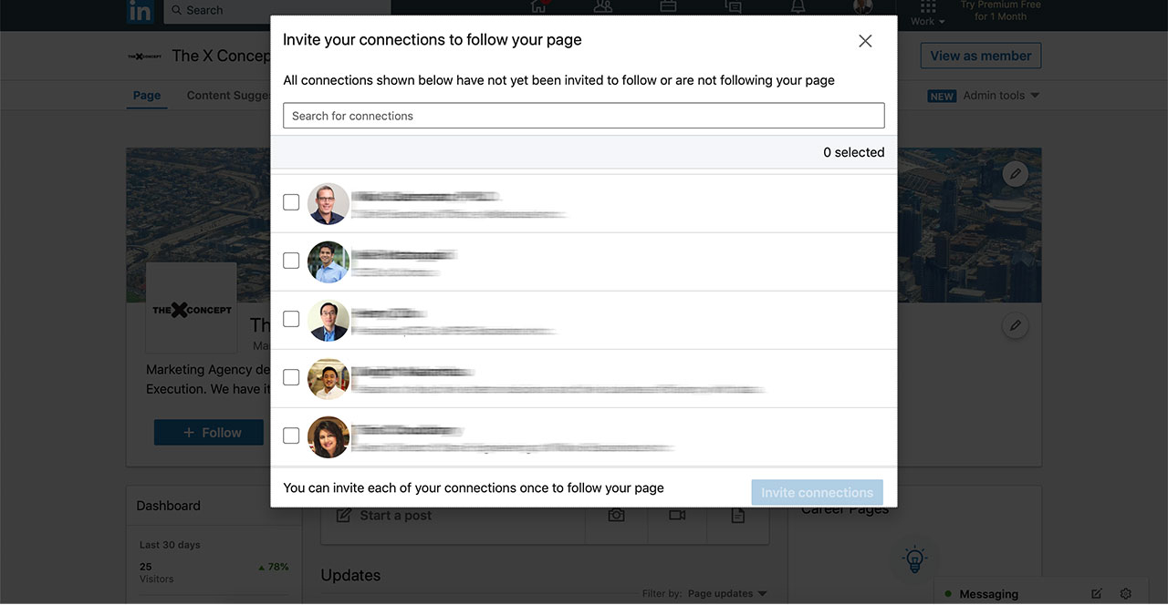 How To Send Invitations To Follow Your Linkedin Company Page with Your Response To The Invitation Cannot Be Sent