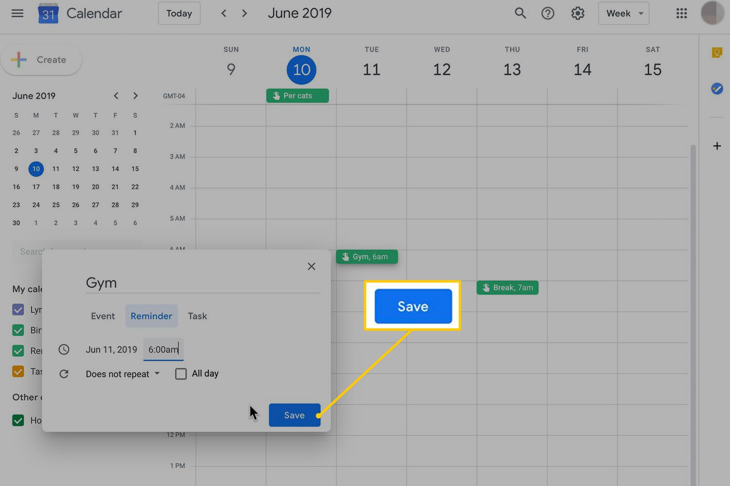 How To Set Up And Manage Google Reminders with Add A Reminder In Google Calendar