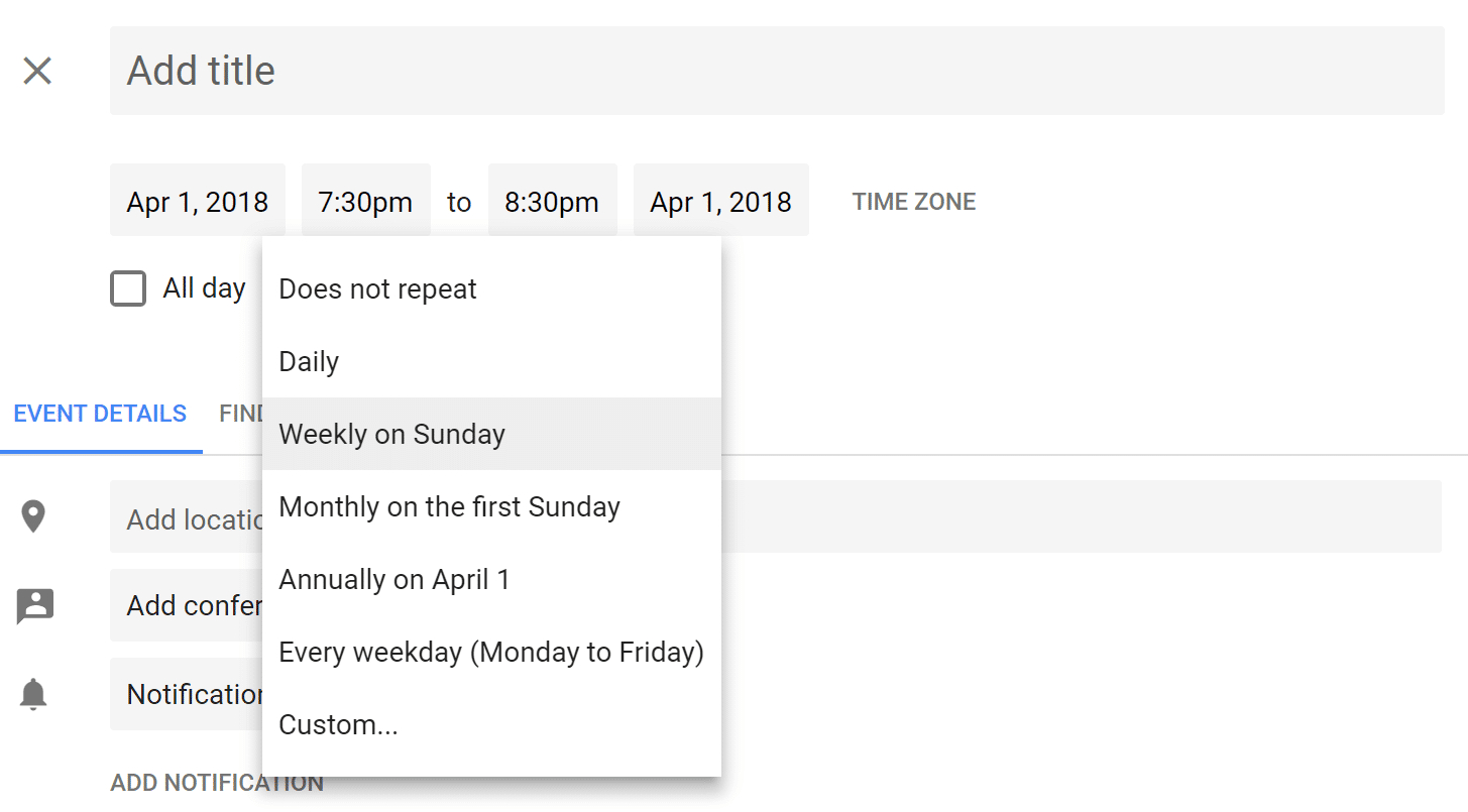 How To Set Up Repeating Event In Google Calendar On Last Day with regard to Add A Reminder In Google Calendar