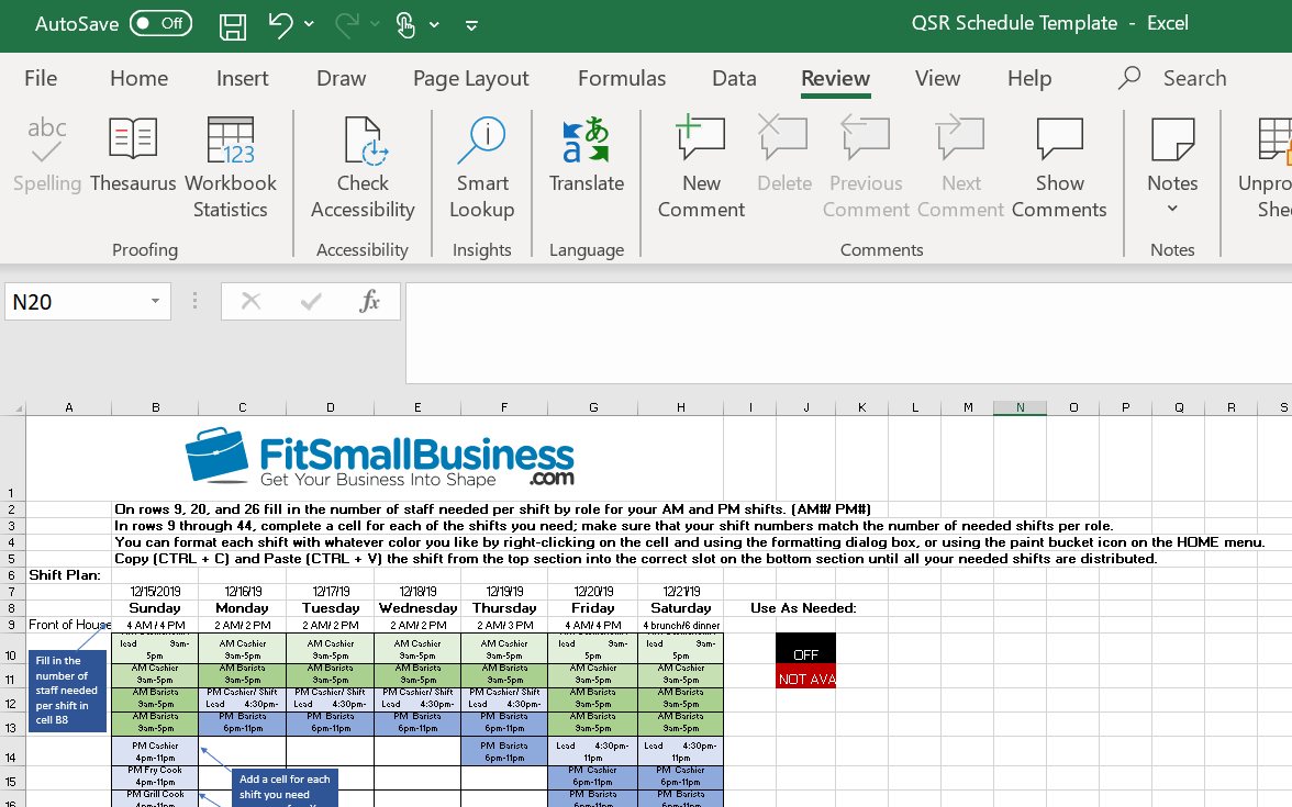 How To Use A Restaurant Schedule Template [+Free Templates] in Sunday Through Saturday Schedule Template