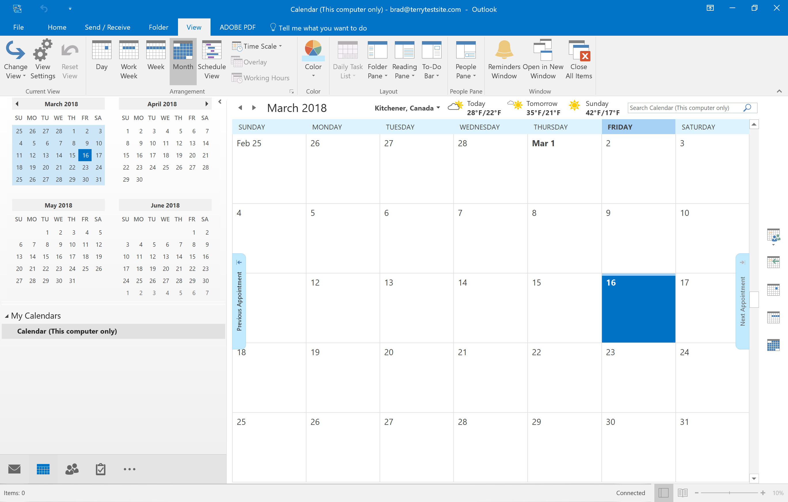 How To View And Customise Calendars In Outlook 2016 within View Calendar In Outlook 2016