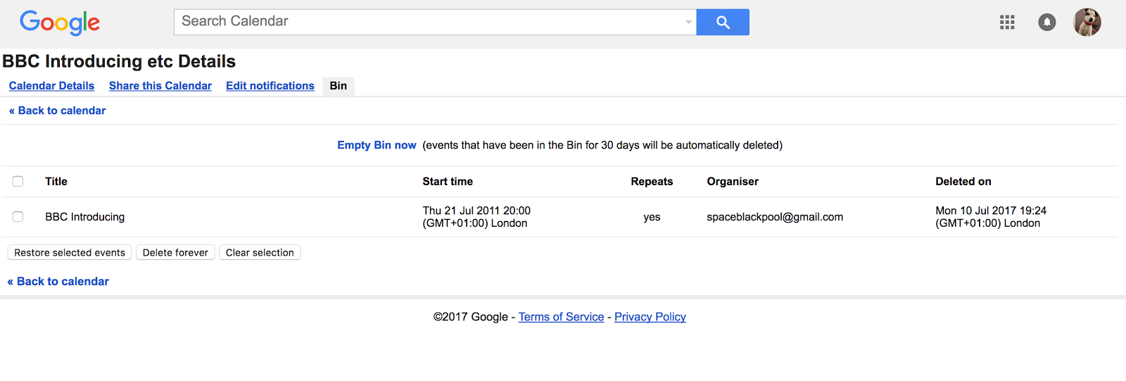 I Can't Undelete A Recurring Calendar Event  Calendar Help within How To Restore Deleted Google Calendar Events
