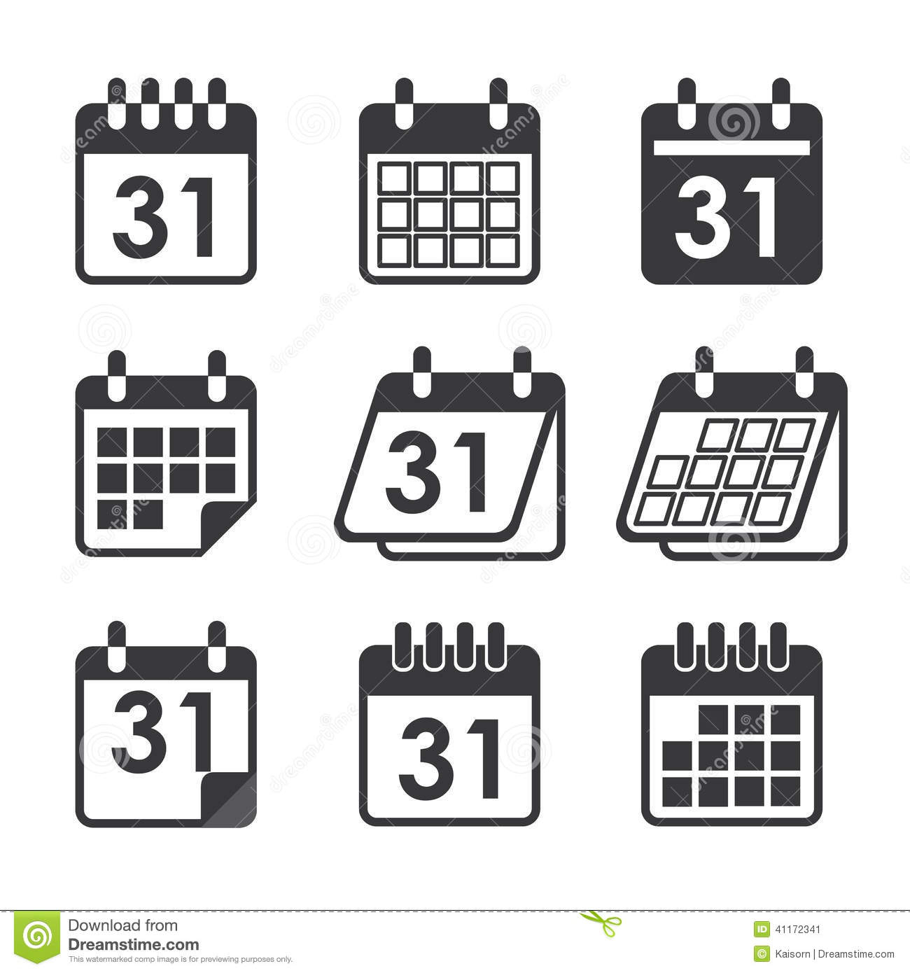 Icon Calendar Stock Vector. Illustration Of Plan, Date for Icon Calendar Vector