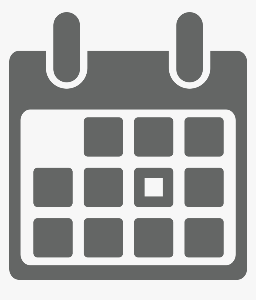 Icons Transparent Calendar  Calendar Icon Grey Png, Png pertaining to Calendar Icon White Png