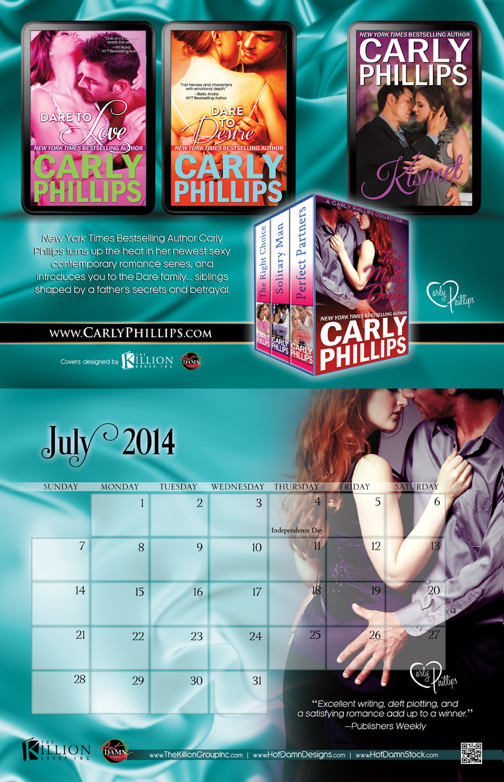 I'm Back & Friday Giveaway | Carly Phillips intended for B Gale Wilson Calendar