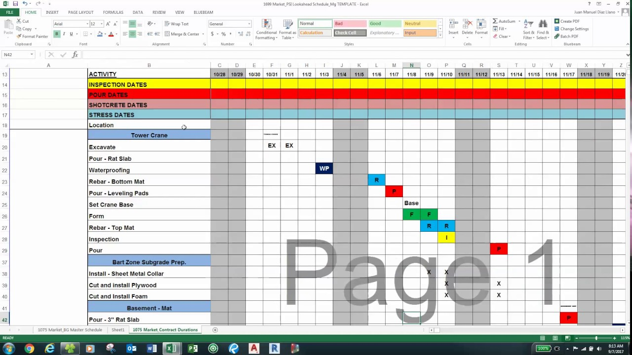 Improvements  Juan Conditional Formatting To Lookahead throughout Look Ahead Schedule Template