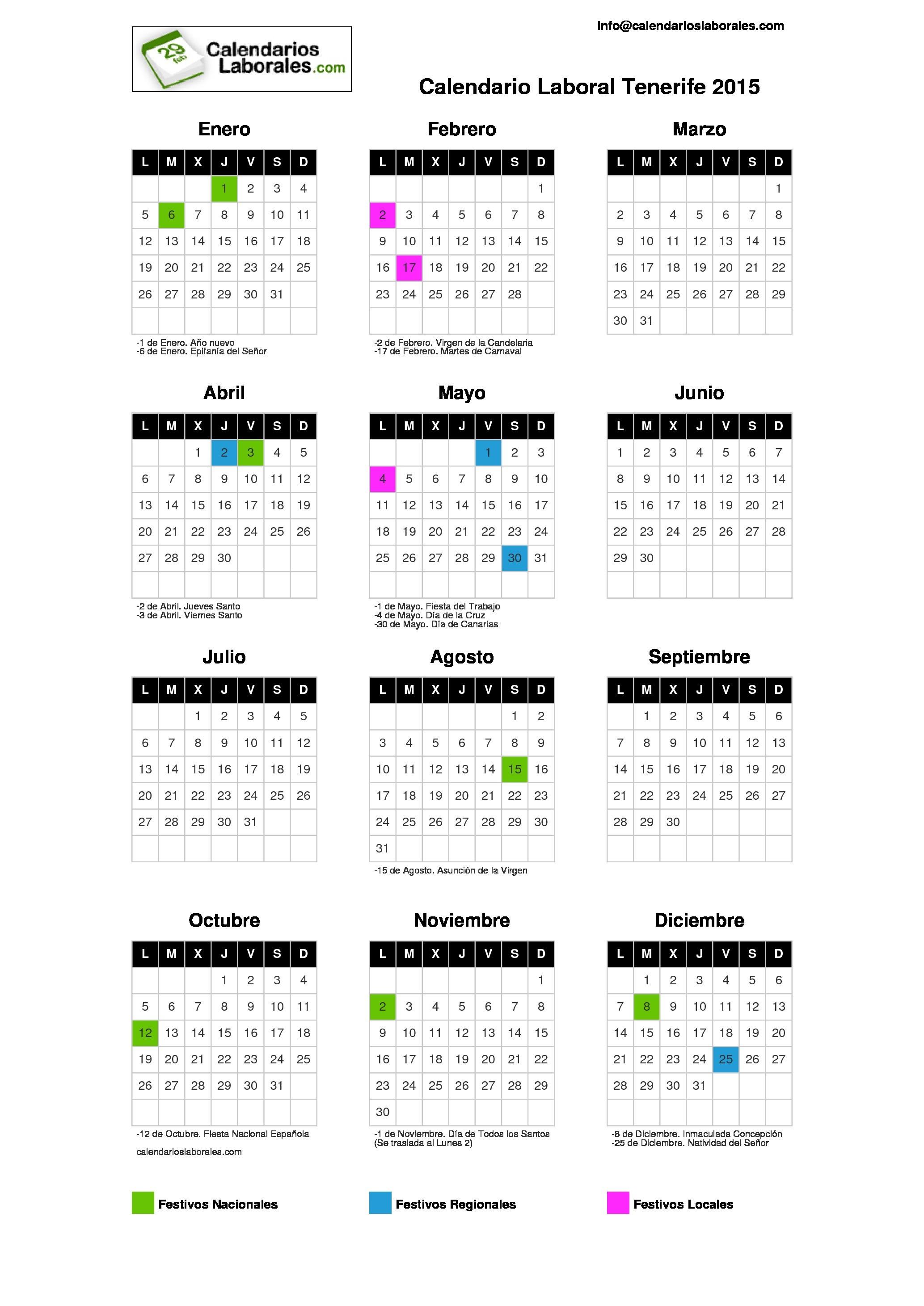 Información Calendario 2015 Para Imprimir Com Feriados in Calendario 2015 Para Imprimir