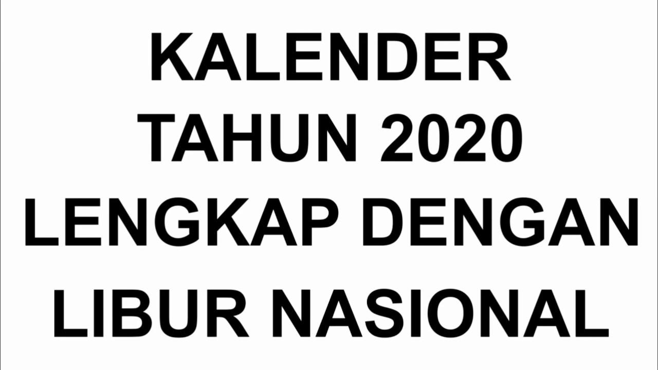 Ini Dia.. Jadwal Libur Nasional Dan Cuti Bersama Di 2020 within Kalendar Tahun 2020