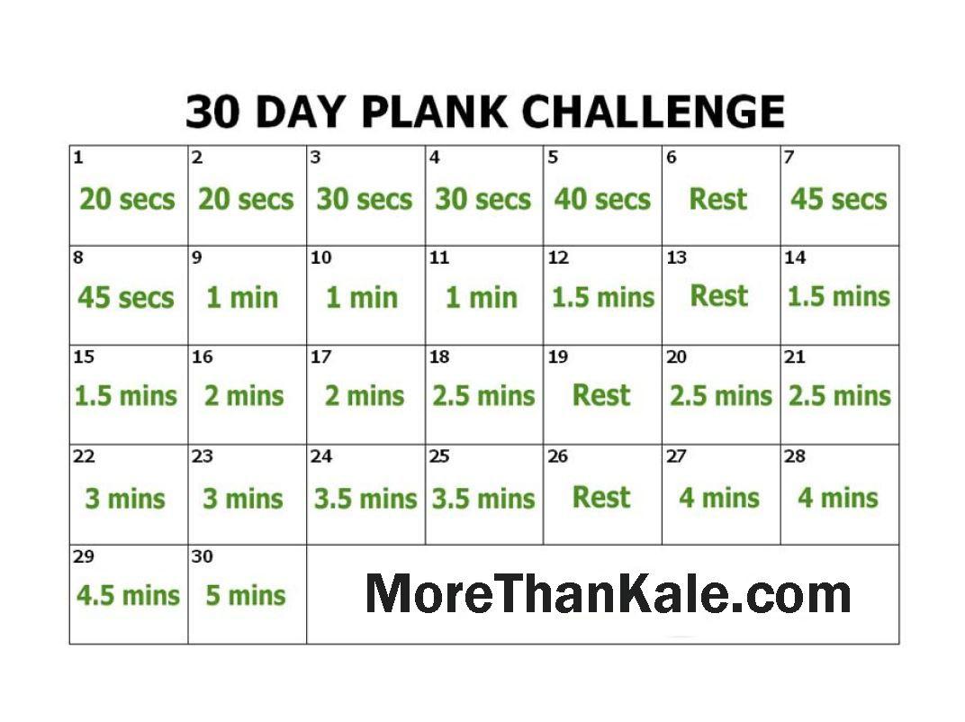 Innovative 30 Day Plank Challenge Printable Calendar | 30 inside Blank 30 Day Challenge Calendar