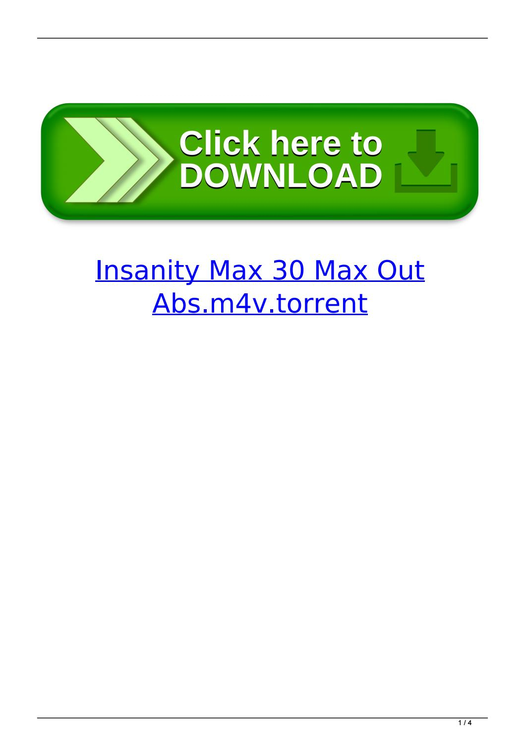 Insanity Max 30 Max Out Abs.m4V.torrent By Dacenunla  Issuu throughout Insanity Max 30 Schedule Pdf