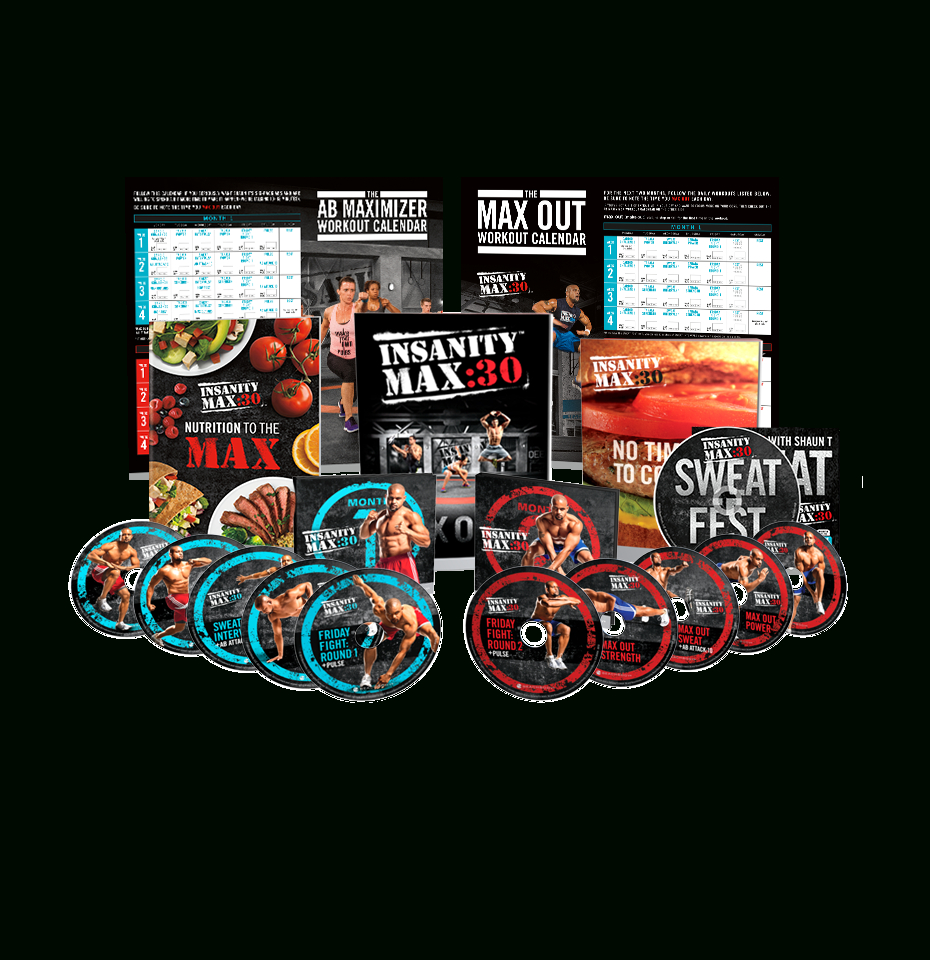 Insanity Max30 Base Kit throughout Max 30 Calendar