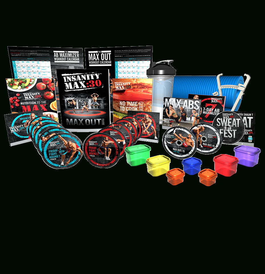Insanity Max30 Deluxe Kit throughout Max 30 Calendar Month 2