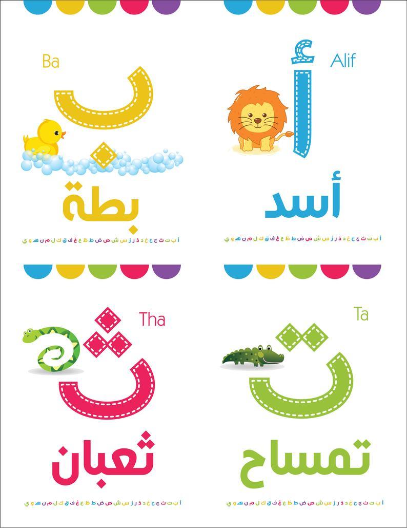 Instant Download Arabic Flash Cards, Printable Flash Cards. Arabic  Alphabetsarabic Educational. with Arabic Alphabet Poster Printable