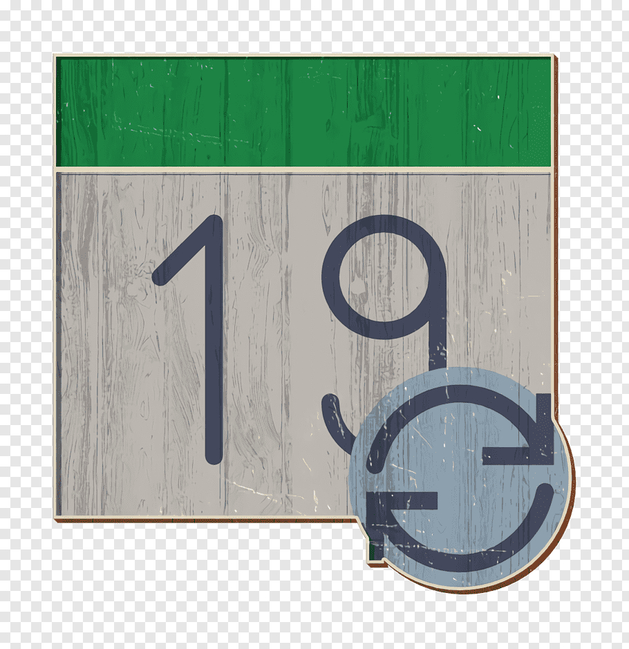 Interaction Assets Icon Calendar Icon, Green, Number, Circle with Calendar Icon Noun Project