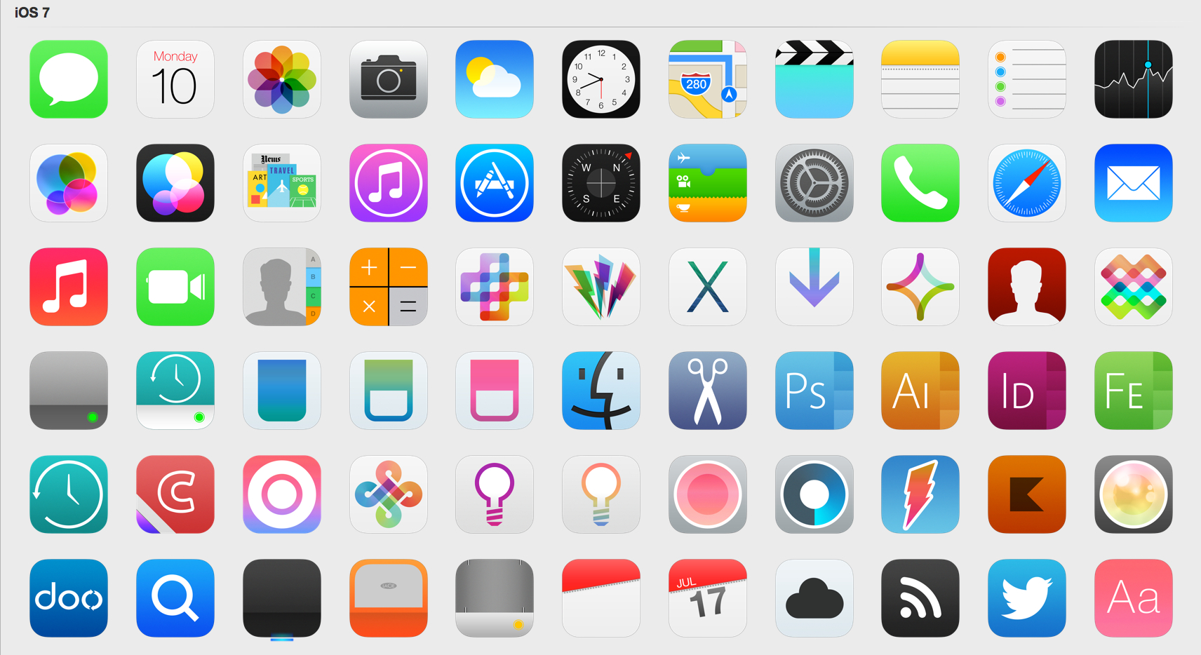 Ios 7 Icons (Updated) By Iynque On Deviantart regarding Apple Calendar App Icon