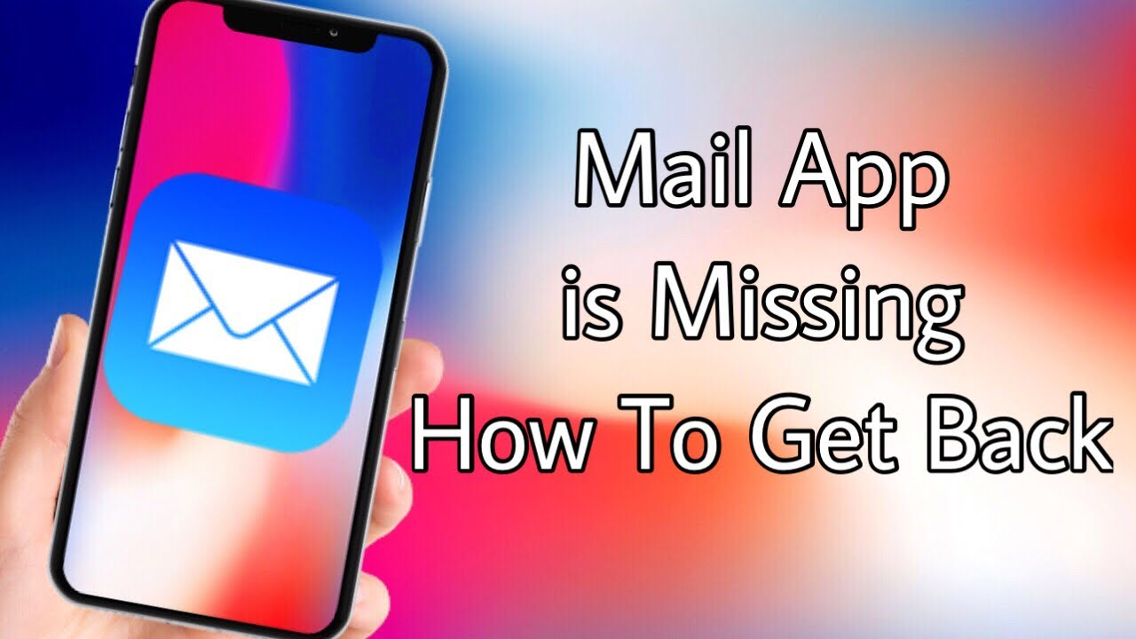 Iphone Mail App Missing ! How To Get Mail App Ios  Youtube within Mail Icon Missing Iphone