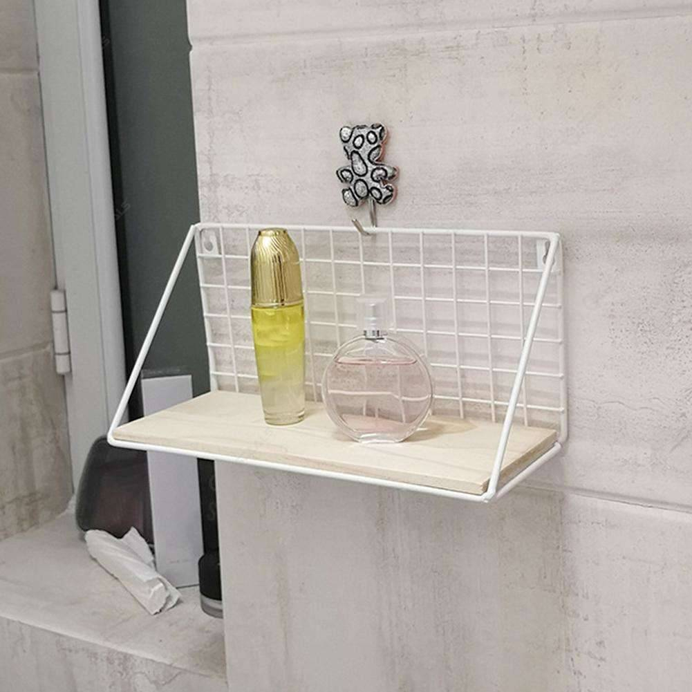 Iron Wall Mounted Storage Rack Shelf Hanging Holder (White 450X150X120Mm pertaining to Wrought Iron Calendar Holder
