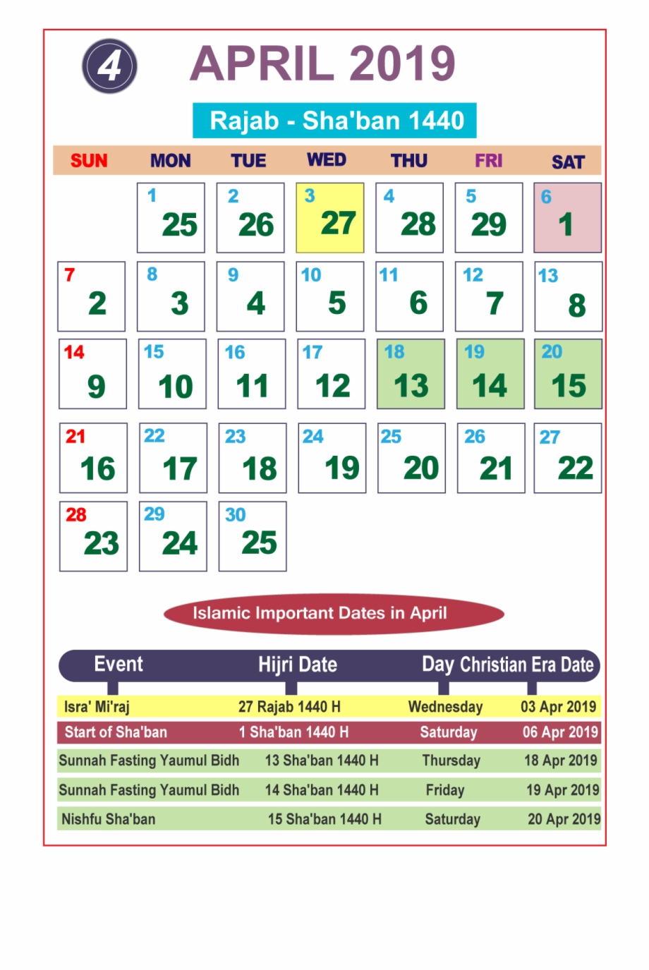 Islamic Calendar 2019 June  Google Search intended for Wincalendar April 2020
