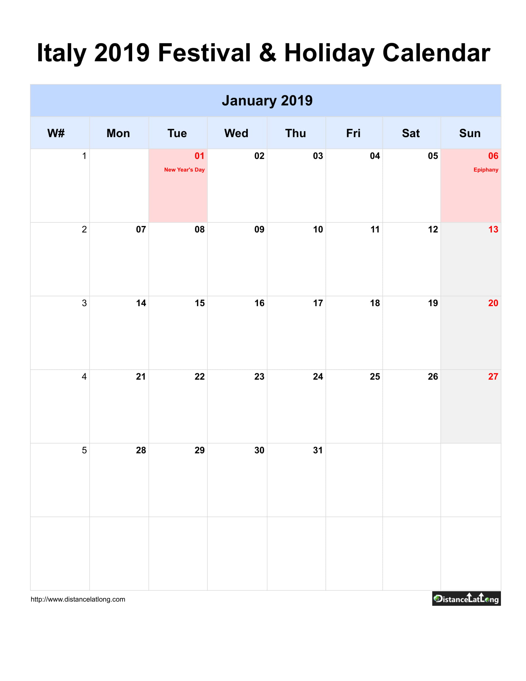 Italy Holiday Calendar 2019 Jpg Templates  Distancelatlong inside Monday Through Sunday Calendar