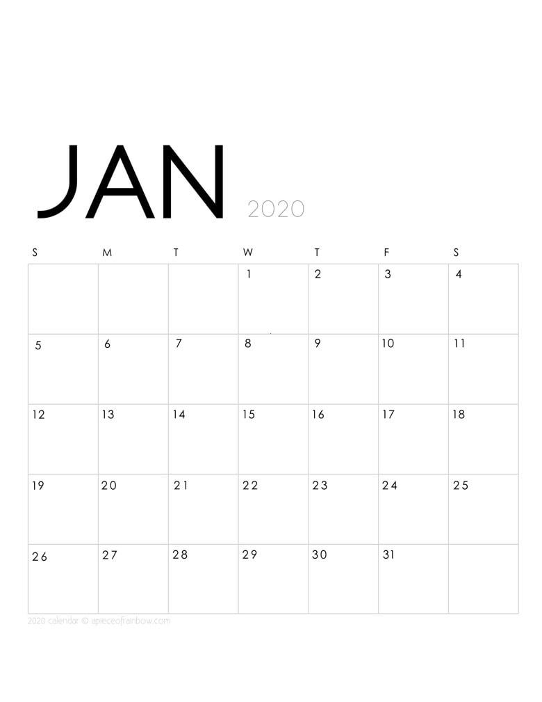 Jan 2020 Calendar Printable With Holidays intended for Wincalendar January 2020