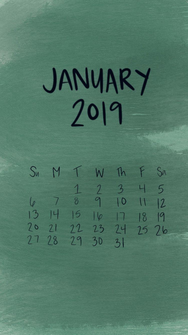 January 2019 Calendar Iphone Wallpaper Lockscreen | 2019 with Calendar On Lock Screen Iphone