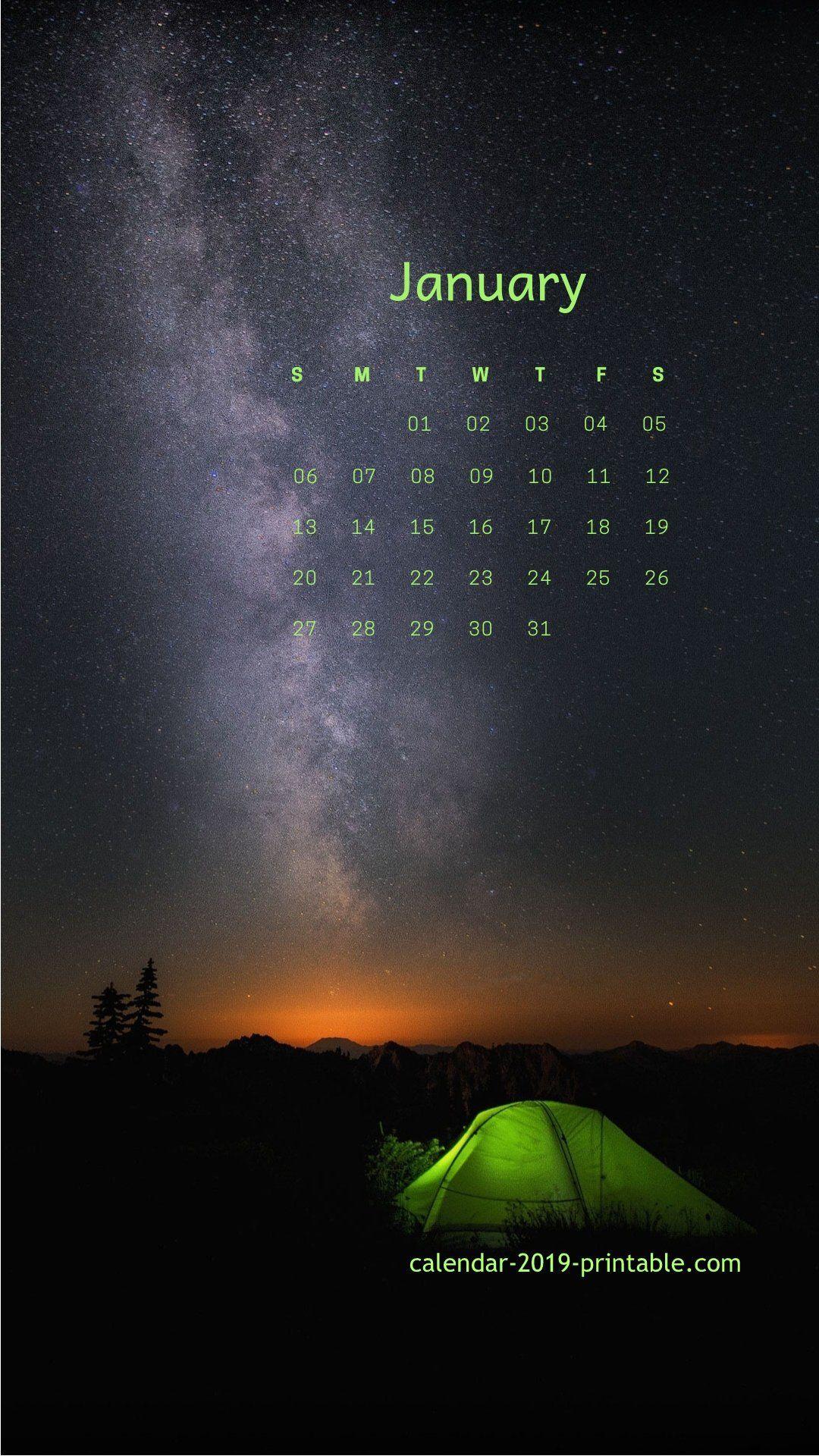 January 2019 Iphone Lockscreen Calendar | Calendar Wallpaper for Calendar On Lock Screen Iphone