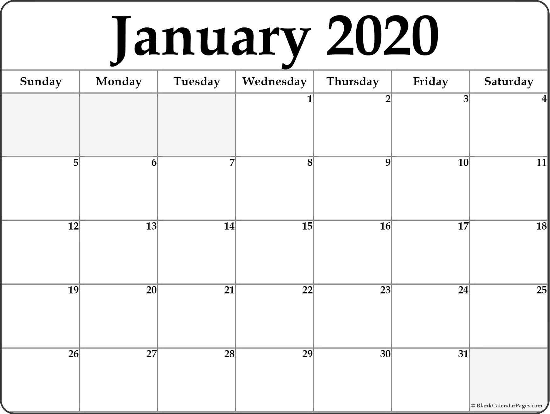 January 2020 Calendar | Free Printable Monthly Calendars with regard to Show Calendar For January 2020