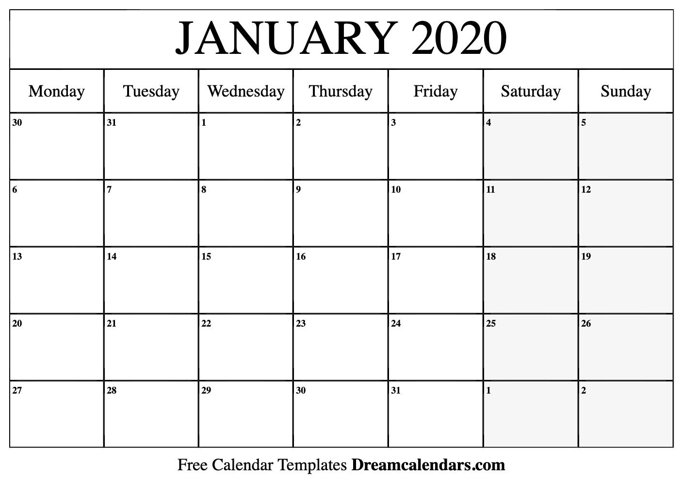 January 2020 Calendar Holidays Printable  Topa throughout Michel Zbinden December 2020