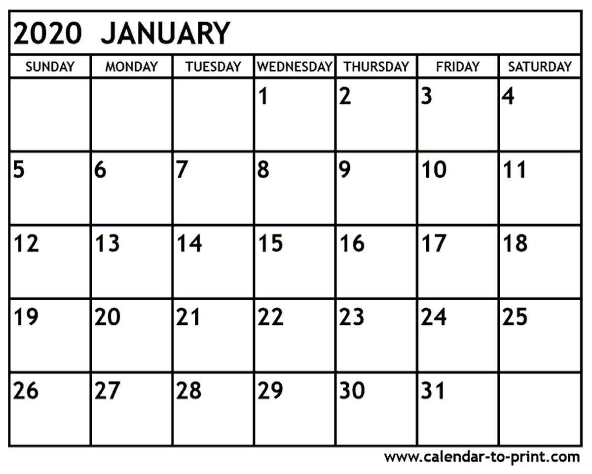 January 2020 Calendar Printable January 2020 Calendar with regard to December 2020 Calendar Beta Calendars