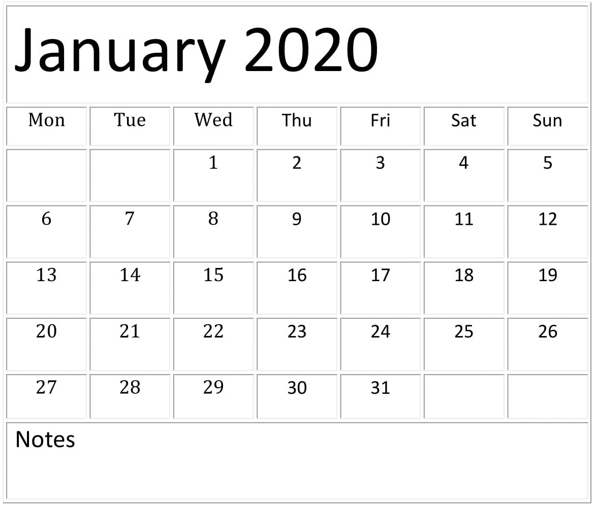 January 2020 Calendar Template For Google Sheets – Free in Google Calendar Template 2020