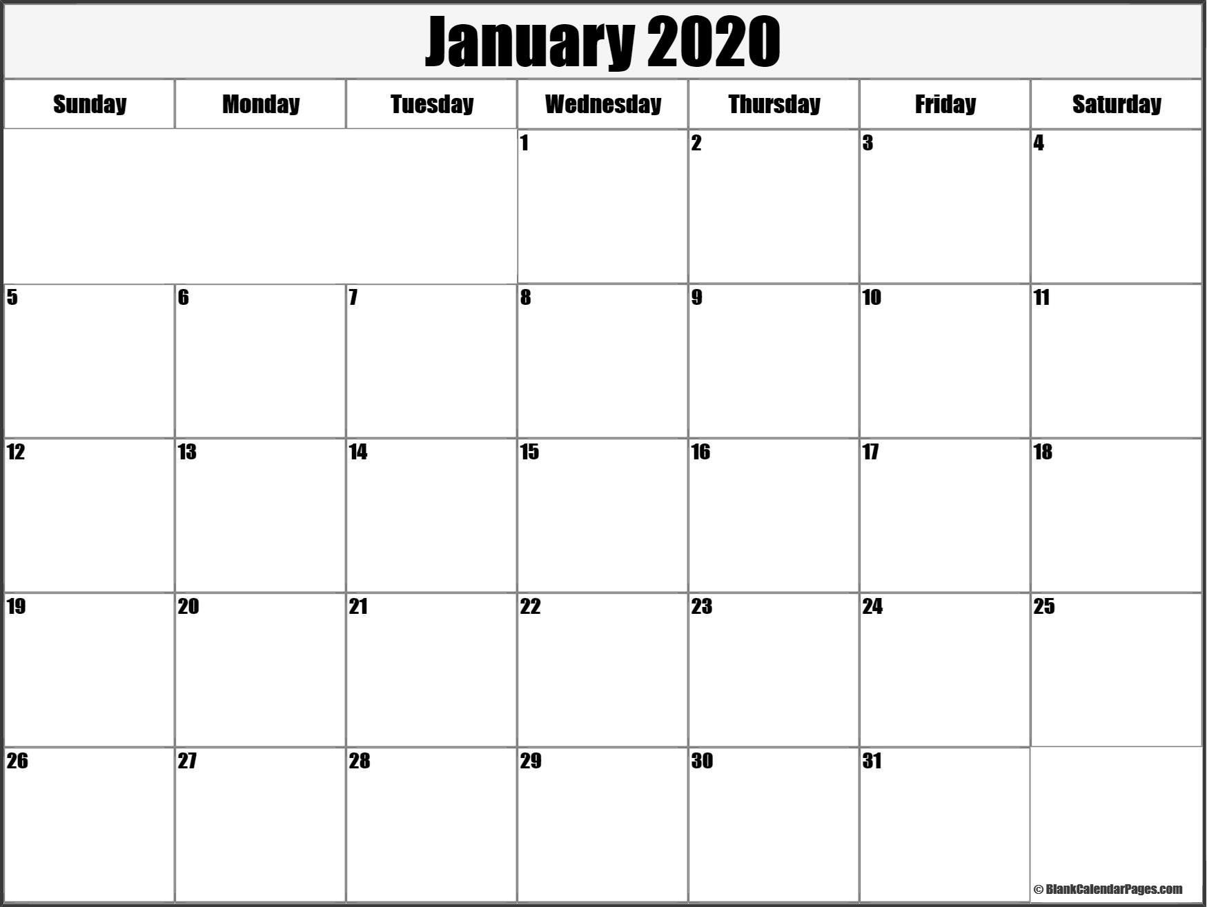 January 2020 Calendar Template #january #january2020 regarding Disney Printable Calendar