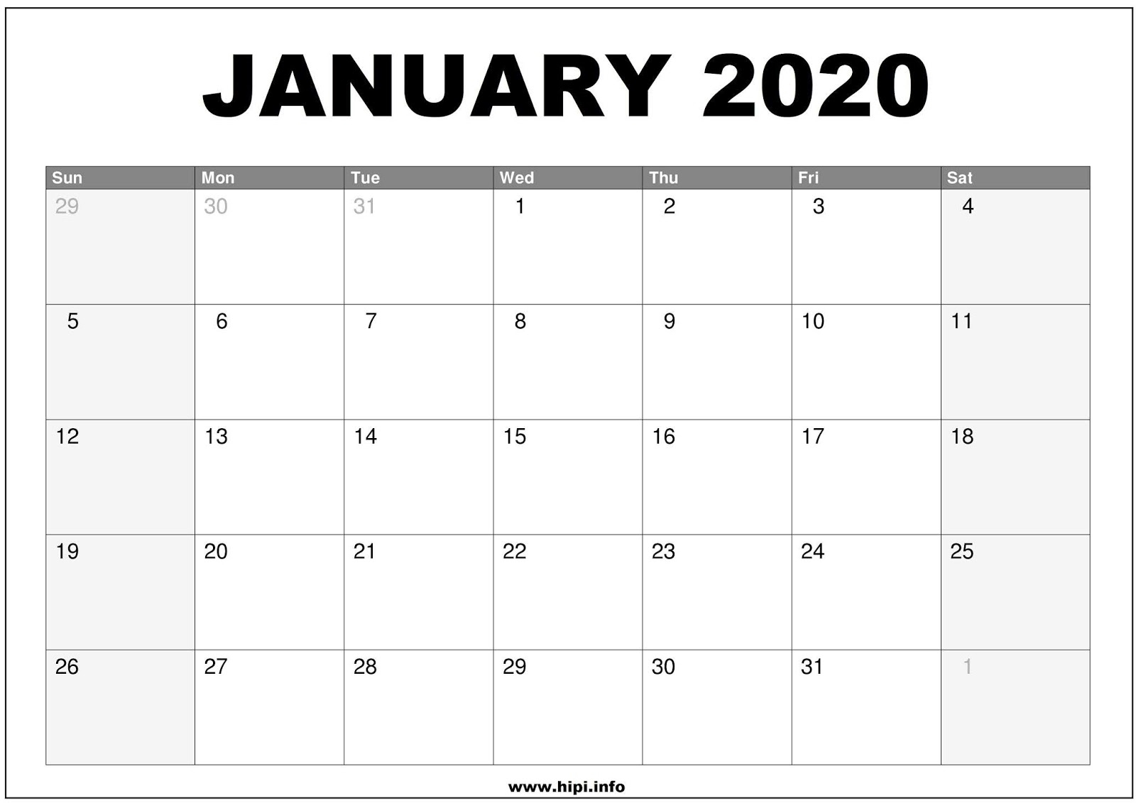 January 2020 Calendar Wallpapers  Wallpaper Cave intended for Calendarpedia January 2020