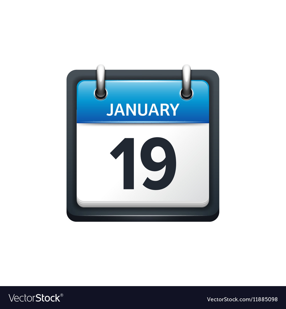 January Calendar Icon  Yatay.horizonconsulting.co within Calendar Icon Powerpoint