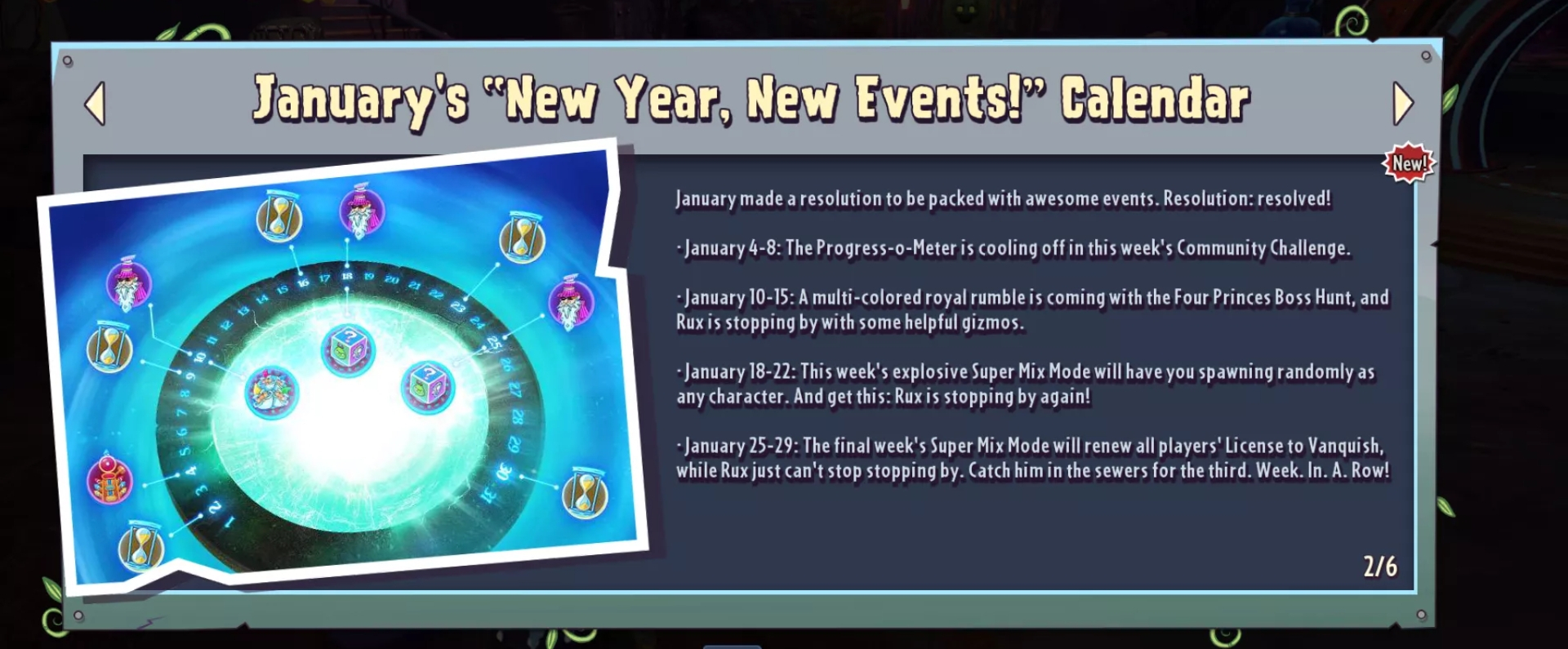 January Event Calendar : Pvzgardenwarfare intended for Pvz Event Calendar