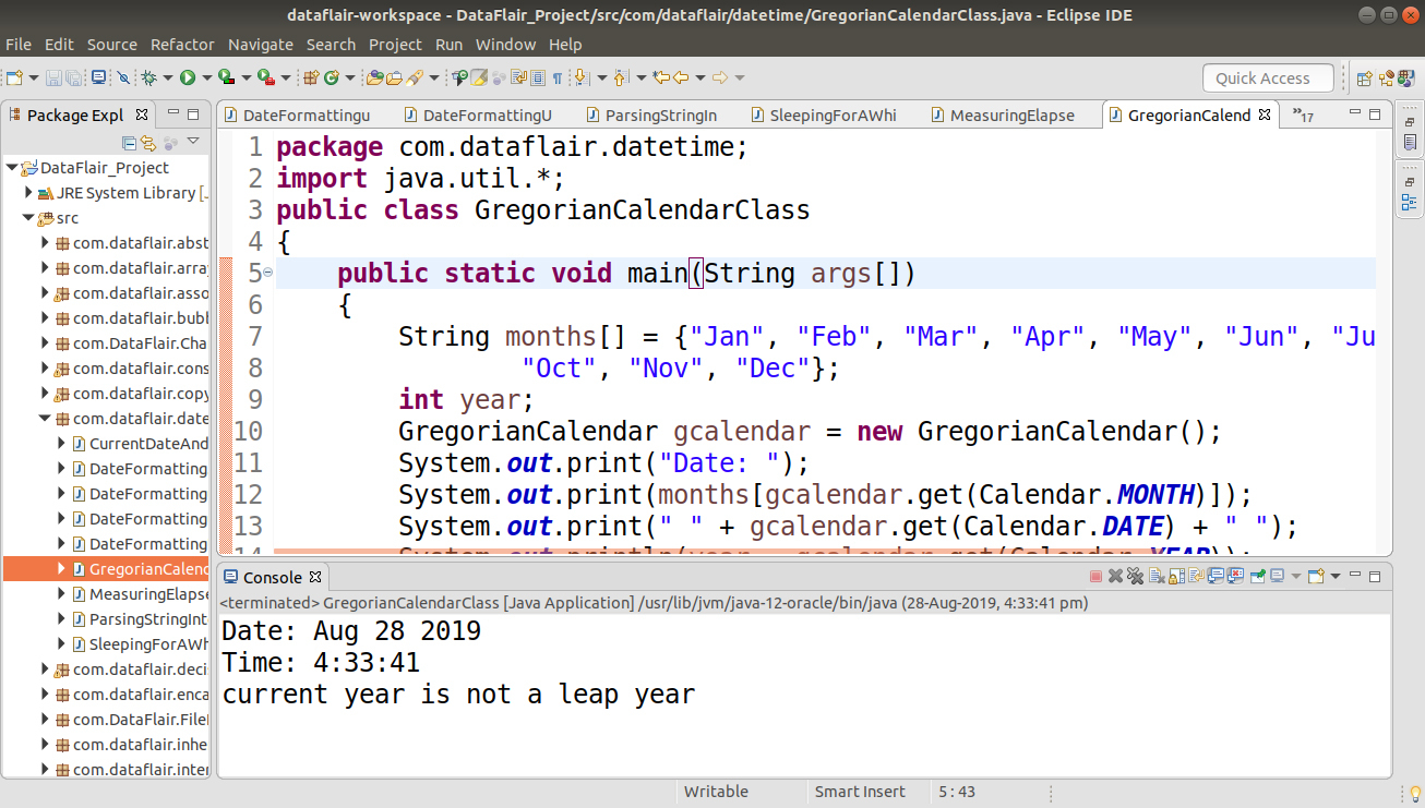 Java Date And Time  Gregoriancalendar Class With Example inside Julian Date In Java